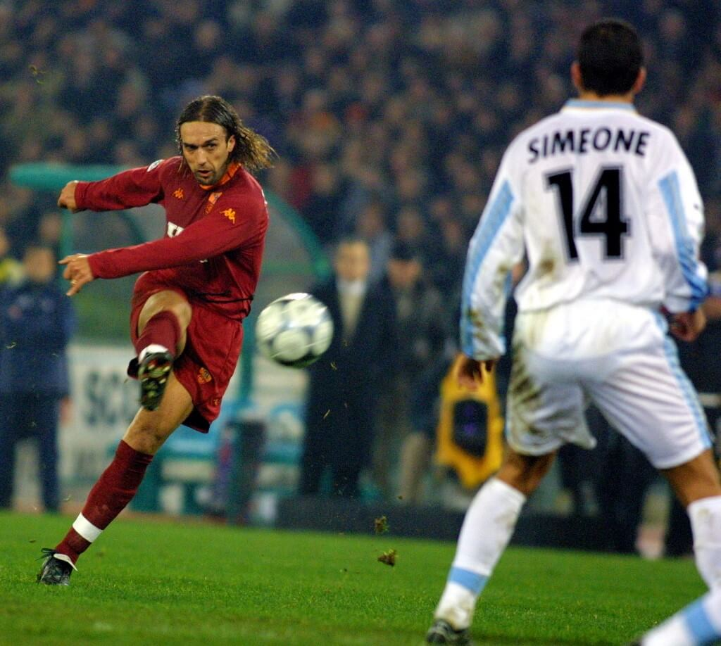 Batistuta och Simeone under ett derby.