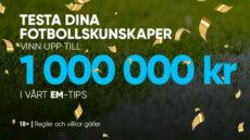 Delta i EM-spelet och kämpa om 1 miljon kr